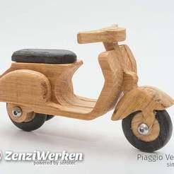Descargar diseños 3D gratis Vespa Piaggio 125 simplificado cnc, ZenziWerken