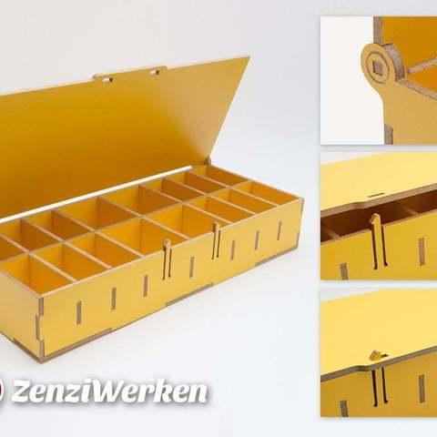 STL gratuit Boîte de rangement avec couvercle cnc/laser, ZenziWerken