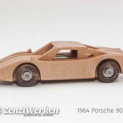 Download free 3D model 1964 Porsche 904 GT simplified laser/cnc, ZenziWerken