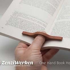 Download free 3D model One Hand Book Holder cnc/laser, ZenziWerken