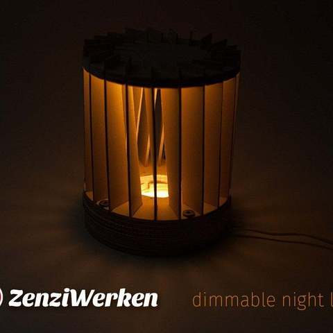 Dimmable Night Light Cnc Laser