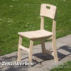 d12adb83c310e7d505b0d66482b5c711_display_large.jpg Download free STL file Curved Dining Chair cnc-style wedged mortise joints • Design to 3D print, ZenziWerken
