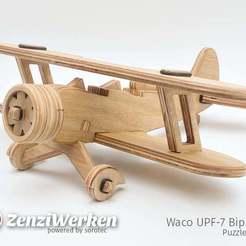Descargar diseños 3D gratis Waco UPF-7 Biplano PuzzleEdition cnc/láser, ZenziWerken