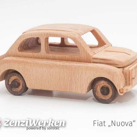 Descargar archivos 3D gratis Fiat Nuova 500 simplificado cnc/láser, ZenziWerken