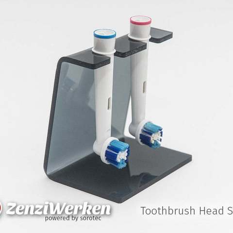 Download free 3D printing templates Toothbrush Head Stand cnc/laser, ZenziWerken