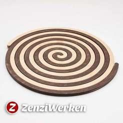 Télécharger fichier STL gratuit Dessous de plat en spirale d'Archimède cnc/laser, ZenziWerken