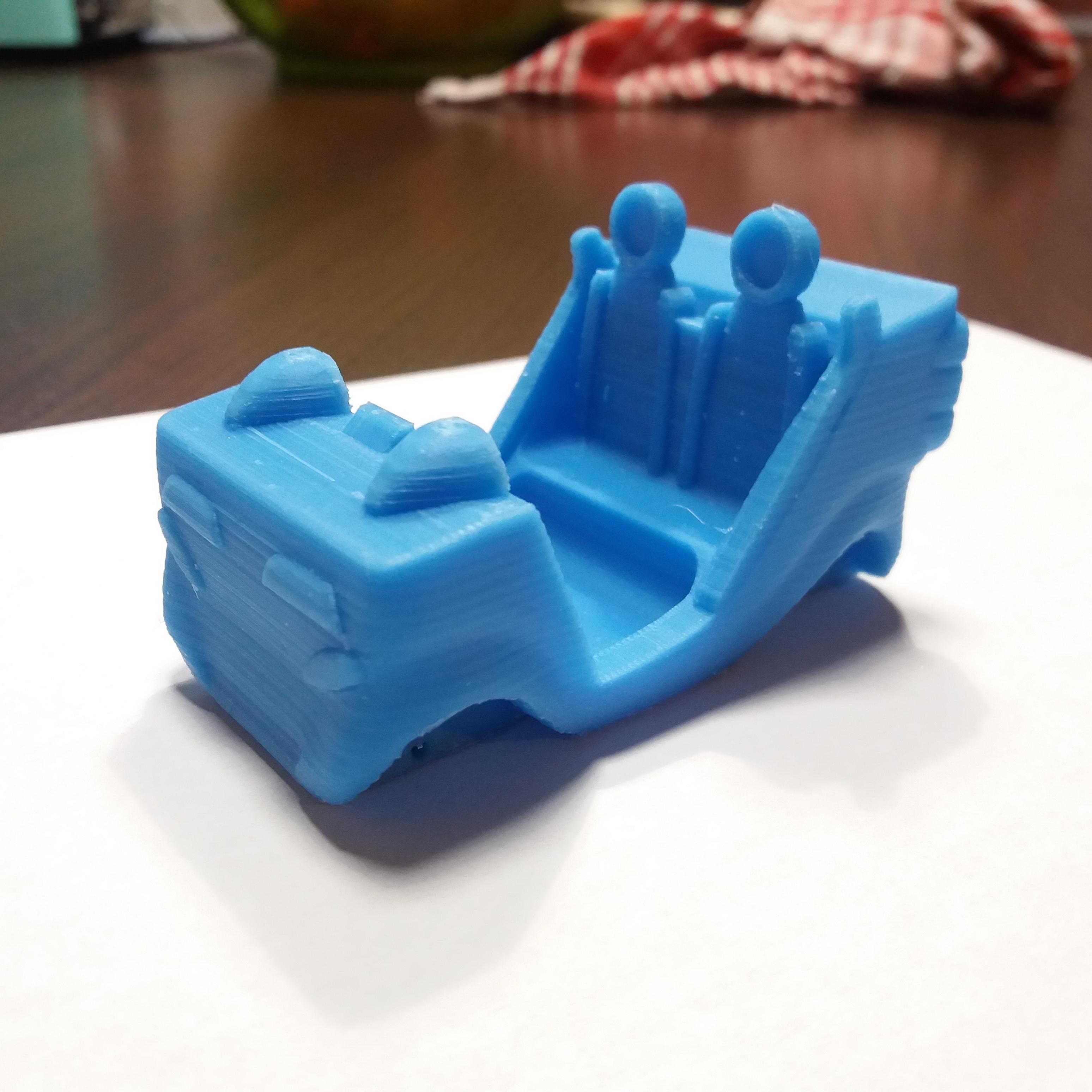 voiture imprimee.jpg Télécharger fichier STL voiture reines des neige, bleu argent • Objet pour imprimante 3D, gerbat