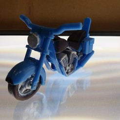 Download free 3D printing templates Harley Dual Exhaust Motorcycle, gerbat