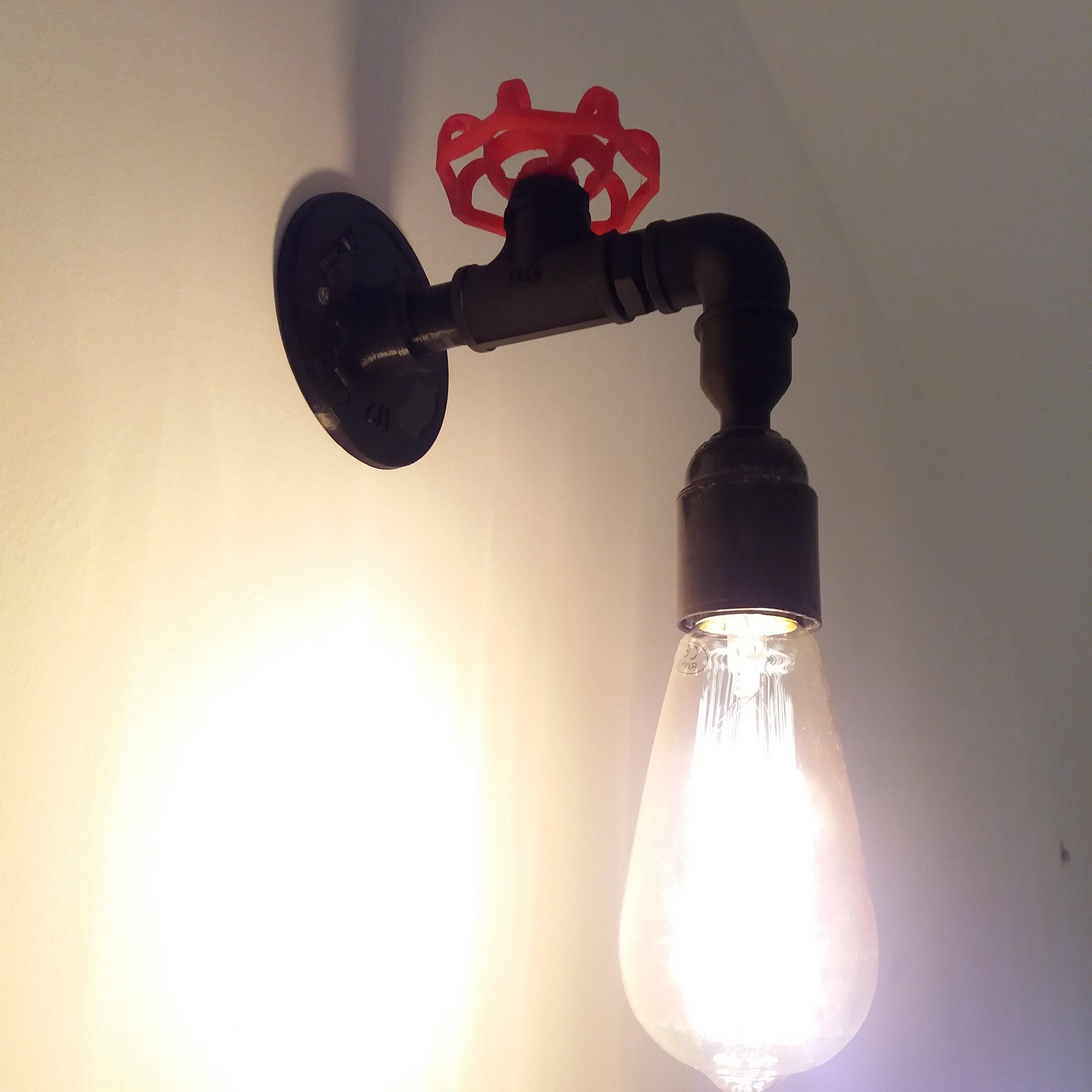 Applique au mur.jpg Download free STL file Wall lamp, Lamp, fittings, Decoration. • 3D print template, gerbat