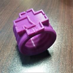 Rammstein 3-4.jpg Download free STL file Napkin ring Rammstein • Design to 3D print, gerbat