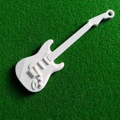 Download free 3D printing templates Fender Stratocaster PLA+ PLA Soft Guitar, gerbat