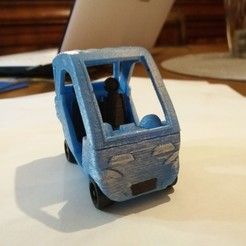voiture peinte avant.jpg Download STL file snow queen car, silver blue • Model to 3D print, gerbat