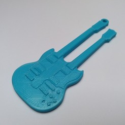 Free 3D printer designs Gibson-custom double-neck guitar, gerbat