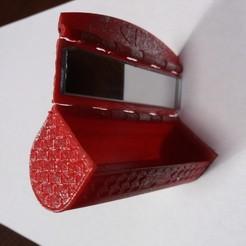 boite rouge 1.jpg Download free STL file Lipstick box with mirror • 3D printer template, gerbat