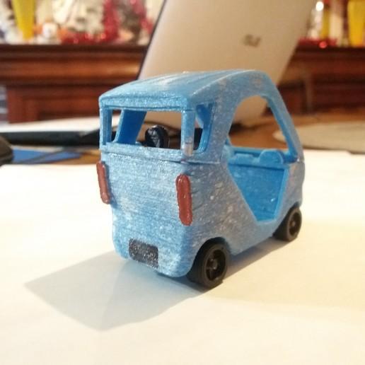 voiture peinte 3-4 arriere.jpg Télécharger fichier STL voiture reines des neige, bleu argent • Objet pour imprimante 3D, gerbat