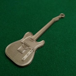 Fender telecaster.jpg Download free STL file Fender Telecaster Guitar • 3D printer object, gerbat