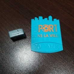 3d printer files Sport badge in the city, gerbat