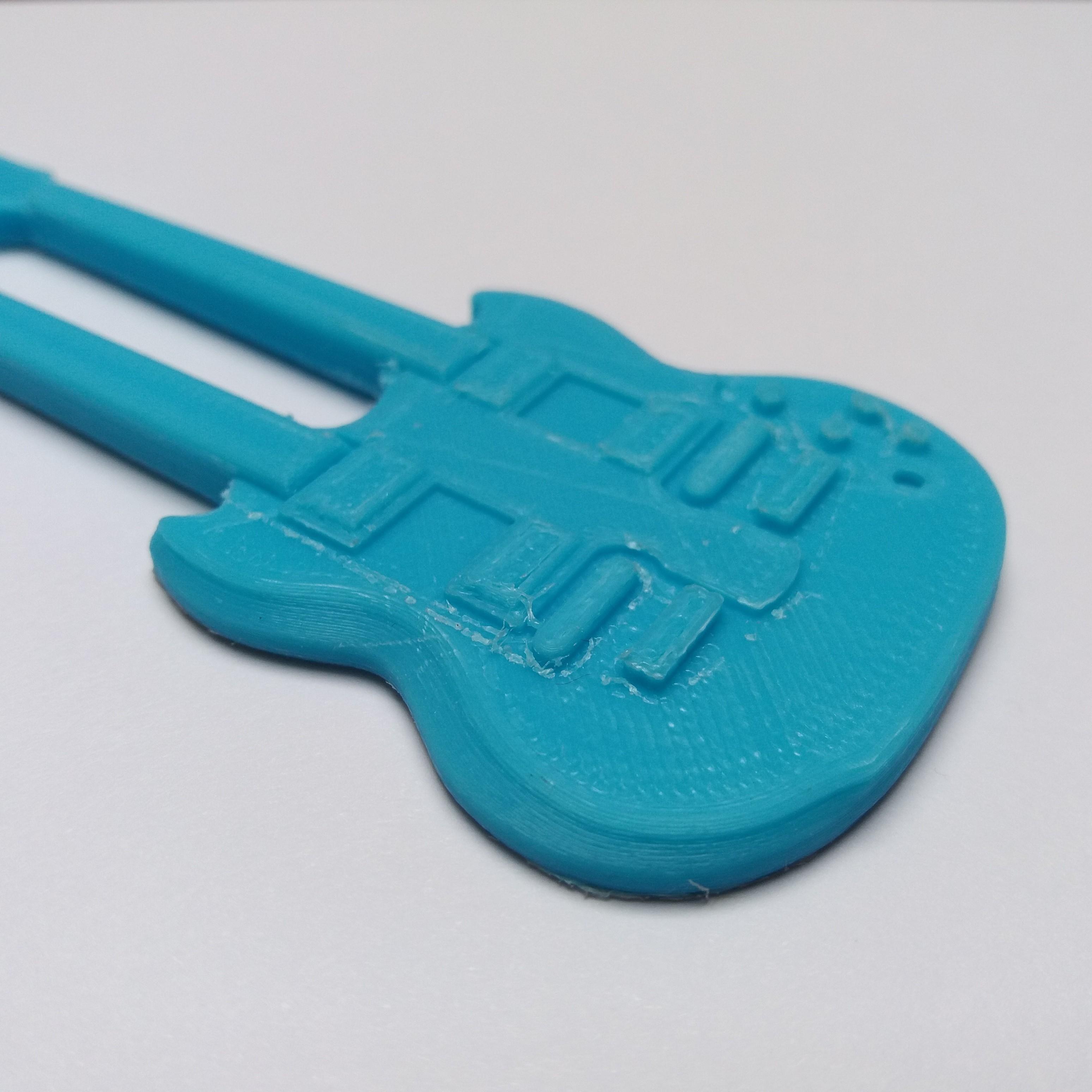 zoom gauche.jpg Download free STL file Gibson-custom double-neck guitar • 3D print object, gerbat