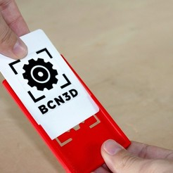 Download free 3D printer files Card/Badge Holder, BCN3D