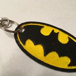 Download 3D printer templates Bat Man Keychain, NotJust4Nerds