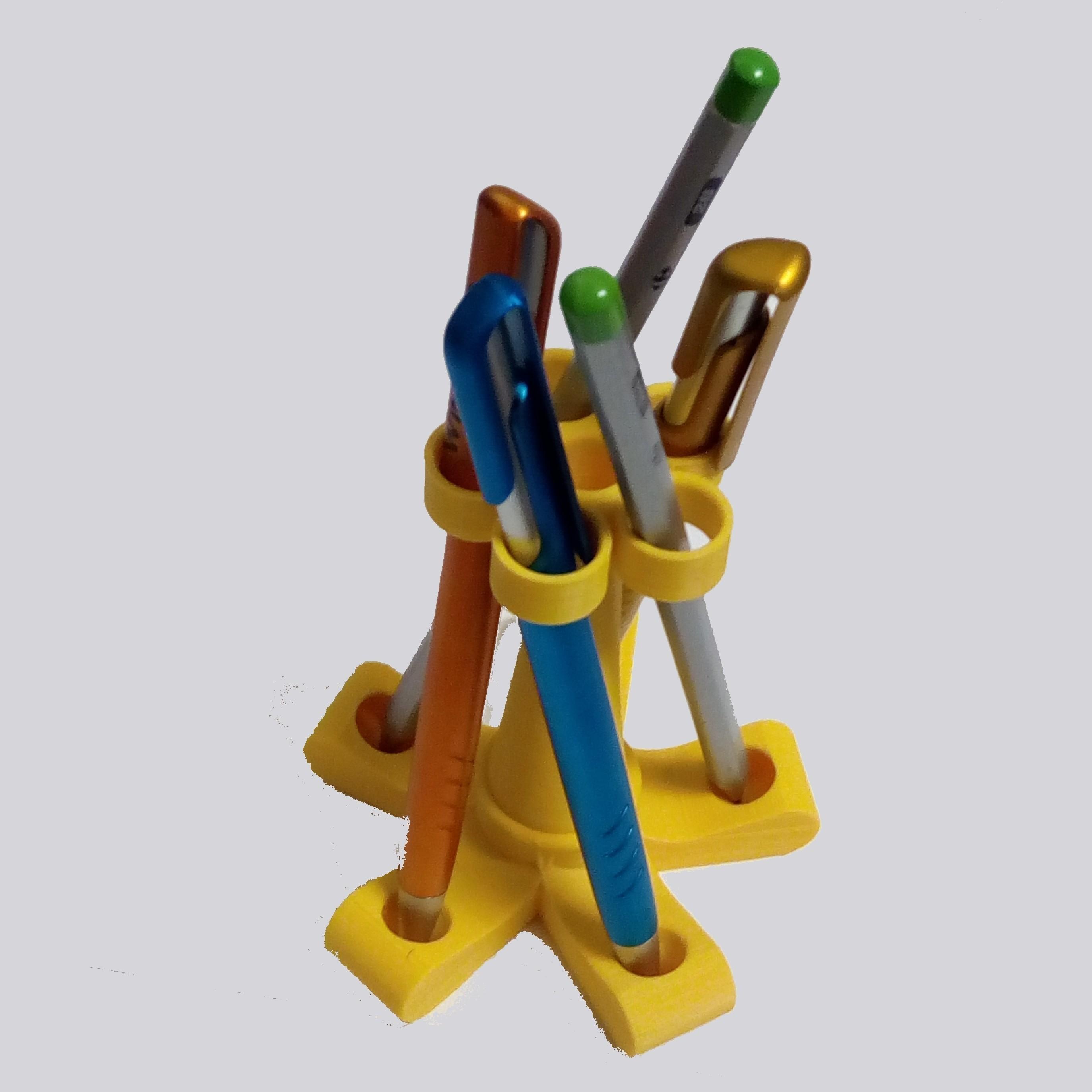 PorteCrayon_5.jpg Download STL file Pen Holder - Pencil Holder • Object to 3D print, maipourkoi