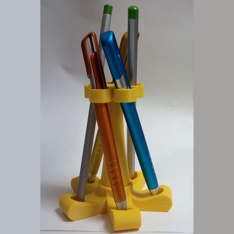 PorteCrayon_7.jpg Download STL file Pen Holder - Pencil Holder • Object to 3D print, maipourkoi
