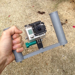09.14.2014_10.47.00.jpg Download STL file GoPro Stabilizer Hand • Object to 3D print, datheus
