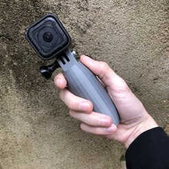 Free STL Handle V5 for Gopro, datheus