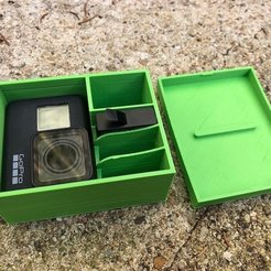 Free 3D printer files gopro 7 storage box, datheus