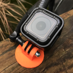 Free 3D print files Foot for Gopro, datheus