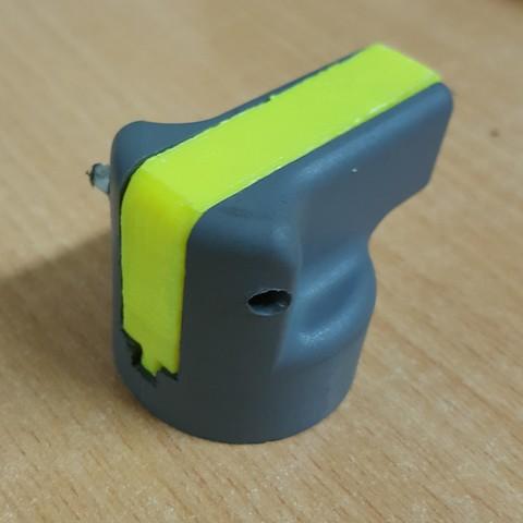 20161203_072244.jpg Download free STL file ABB lockout handle • 3D print template, Sculls