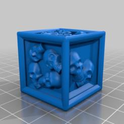 9ca19353093fc69a8733d26c0e67c19f.png Download free STL file Skull dice - Dé crane - Zombicide BP/GH & Rum&Bones alternatives • 3D print template, lelfdajkini
