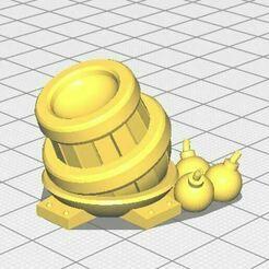Bombarde.JPG Download free STL file Mini bombarde - Medieval fantasy (compatible Kingdom Rush : Faille temporelle) • 3D printer template, lelfdajkini