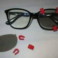 IMG_3947.JPG Télécharger fichier STL gratuit Pince porte-filtre 3d pour lunettes • Objet pour imprimante 3D, lelfdajkini
