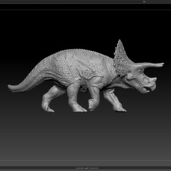Triceratop03.jpg Download OBJ file Triceratops, Dinosaur • 3D printer model, Exfusion