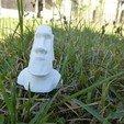 Free 3d printer files Low Poly Moai, pyv