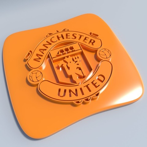 Manchester United.jpg Download STL file Football club logos • 3D printable template, vincent91100