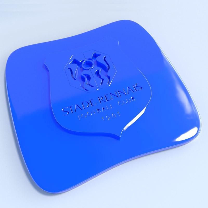 Rennes.jpg Download STL file Football club logos • 3D printable template, vincent91100