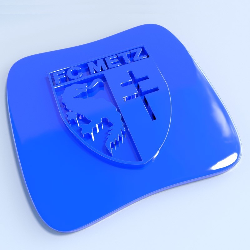 Metz.jpg Download STL file Football club logos • 3D printable template, vincent91100