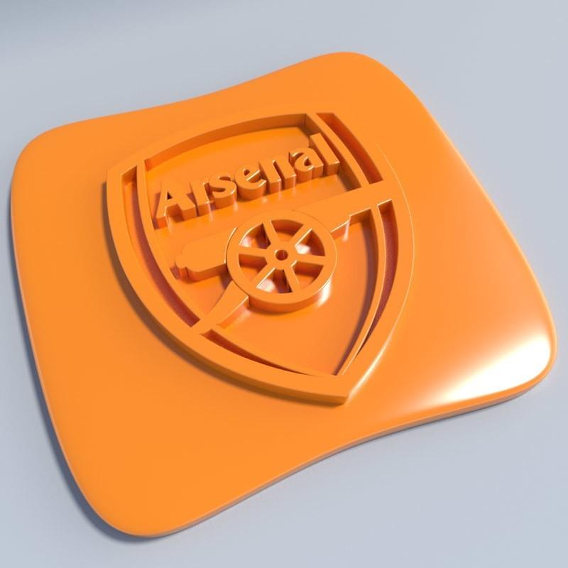 Arsenal.jpg Download STL file Football club logos • 3D printable template, vincent91100