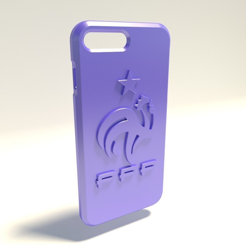 Federation Française de Foot.jpg Download STL file Iphone 4 Covers • 3D printable template, vincent91100