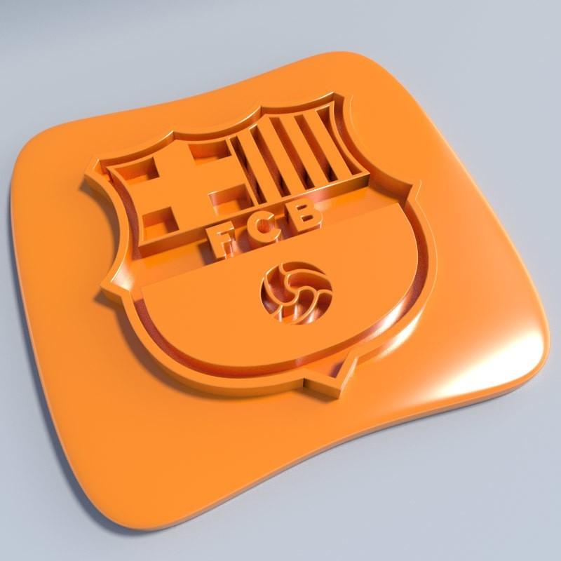 Barça.jpg Download STL file Football club logos • 3D printable template, vincent91100