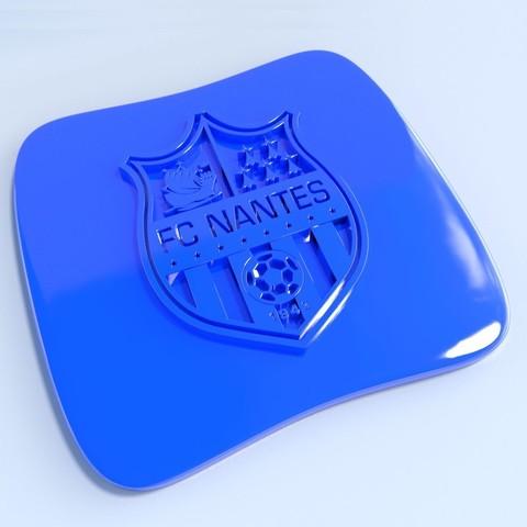 Nantes.jpg Download STL file Football club logos • 3D printable template, vincent91100