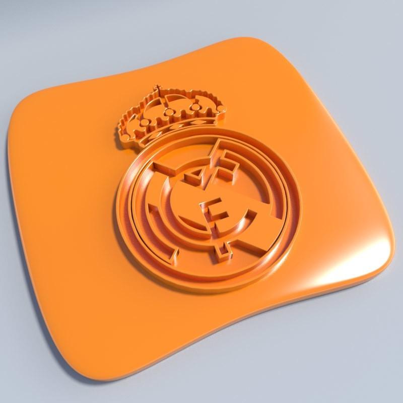 Real Madrid.jpg Download STL file Football club logos • 3D printable template, vincent91100