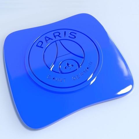 PSG.jpg Download STL file Football club logos • 3D printable template, vincent91100