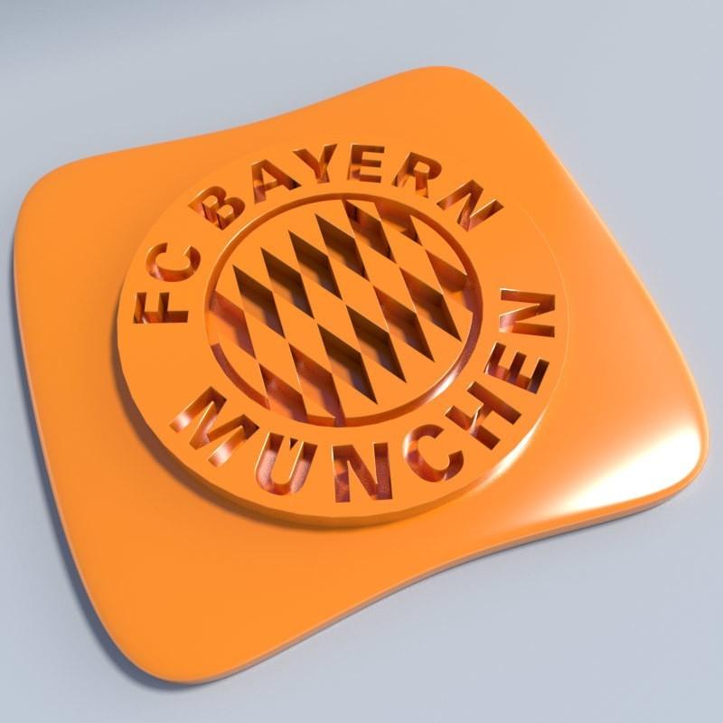 Bayern Munich.jpg Download STL file Football club logos • 3D printable template, vincent91100