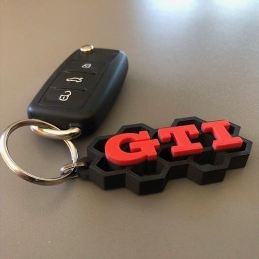 Télécharger fichier imprimante 3D gratuit porte-clés gti, astortaetom