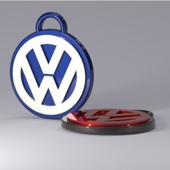 d1feecbd90b9fbac95767440646943c8_preview_featured.jpg Download free STL file key chain volkswagen • 3D printing object, astortaetom
