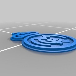 Download free 3D printer templates key chain real madrid, astortaetom