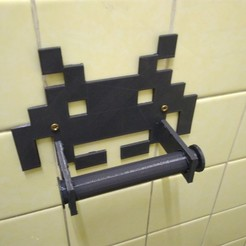 Download free 3D printer model Space Invader Toilet Paper Holder, lpxav